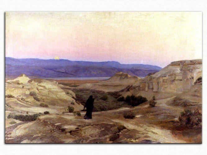 Gustav Bauernfeind Ölü Deniz ve Moabiter Dağları