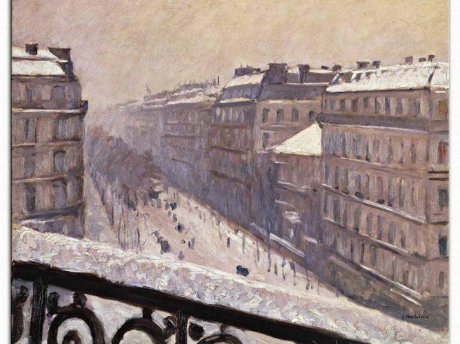Gustave Caillebotte Haussmann Bulvarı, Kar Altında
