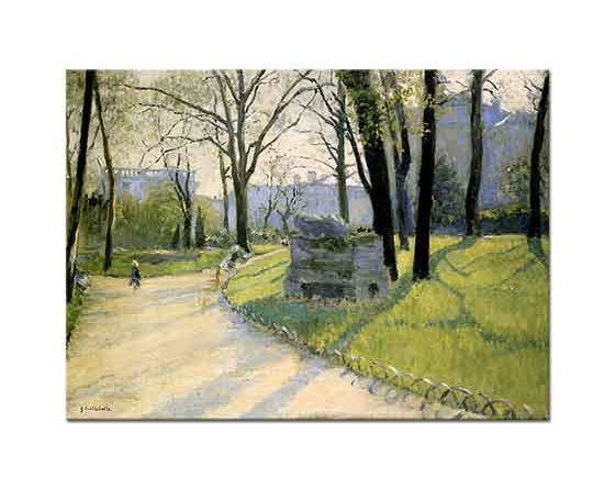 Gustave Caillebotte Monceau Parkı
