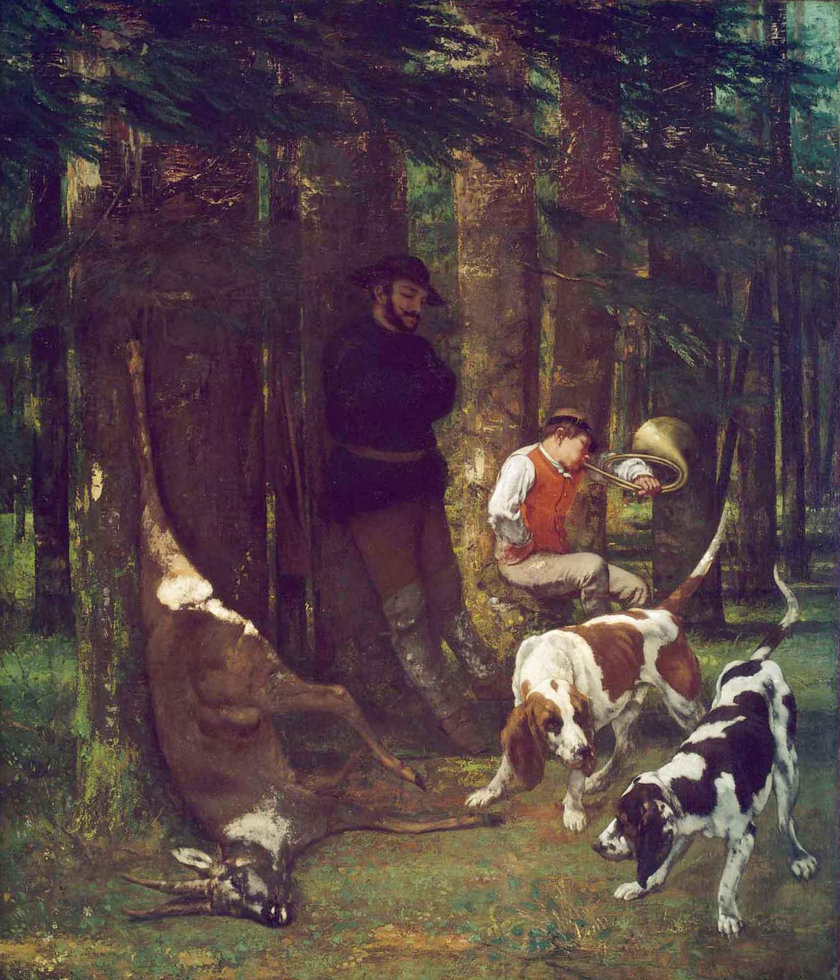 Gustave Courbet Avda Köpeklerle