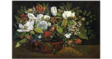 Gustave Courbet Çiçek Sepeti