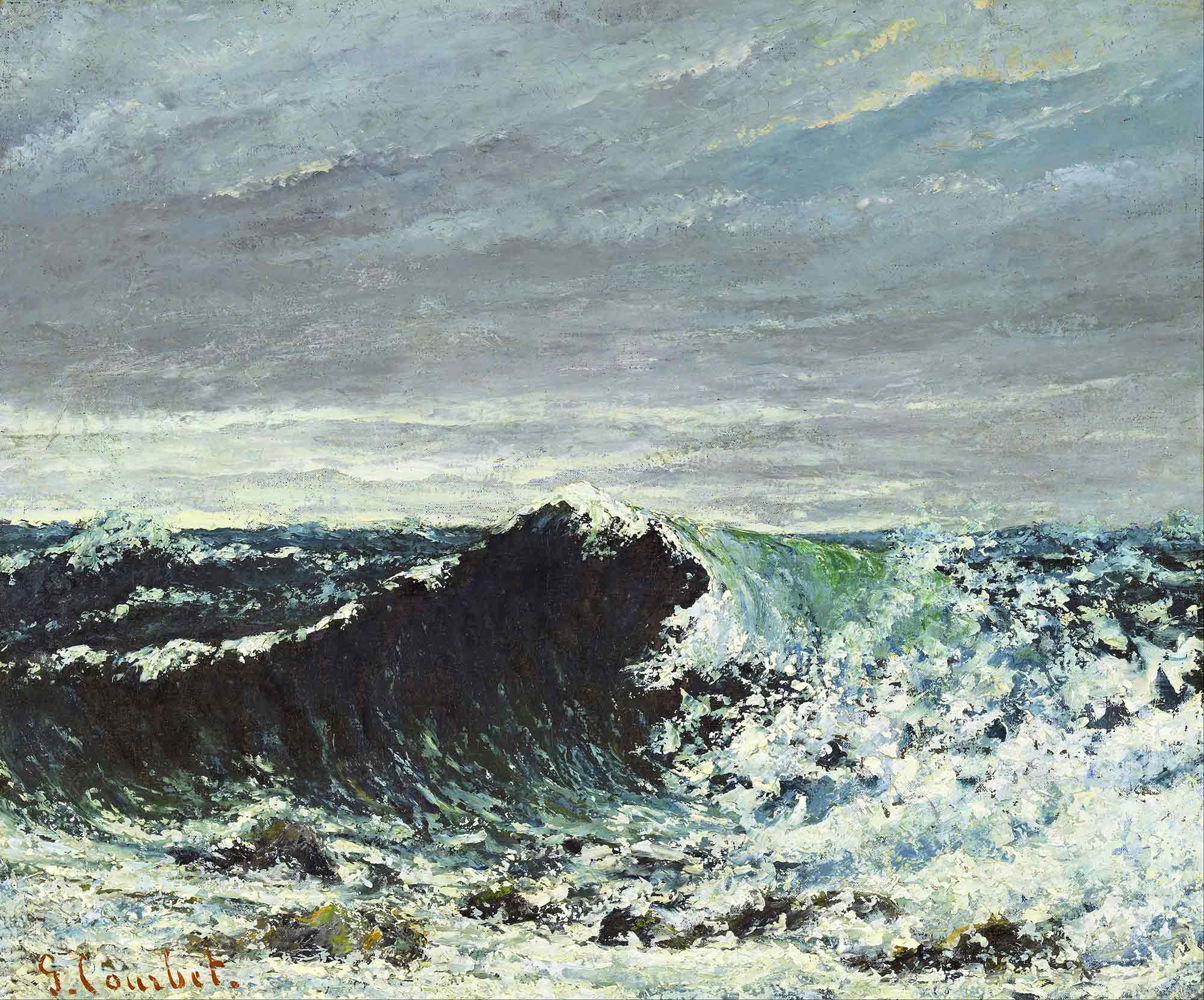 Gustave Courbet Dalga