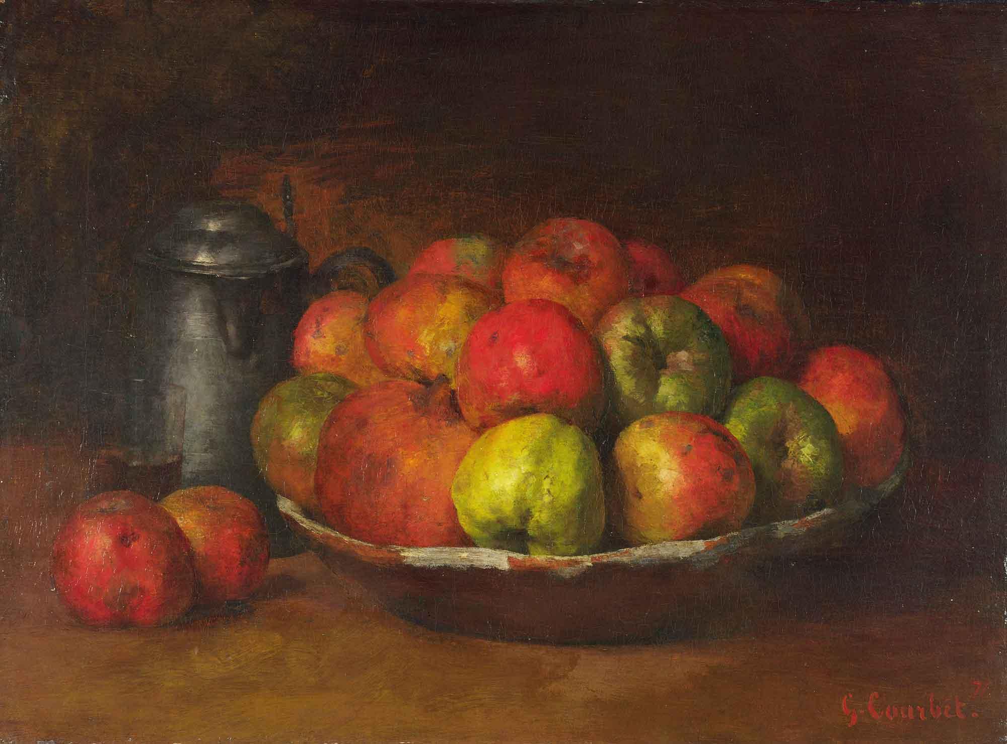 Gustave Courbet Elma ve Narlı Natürmort