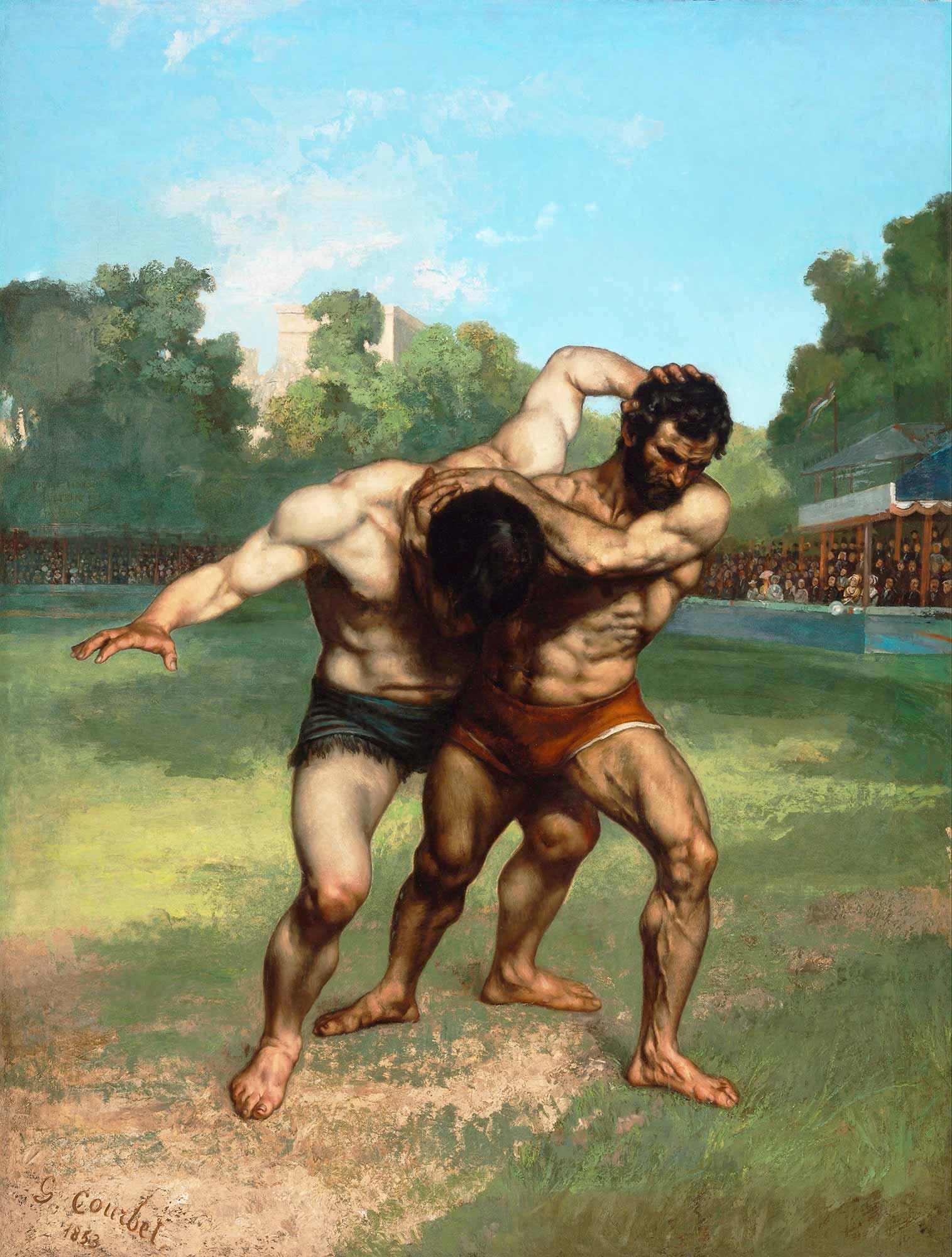 Gustave Courbet Güreşçiler