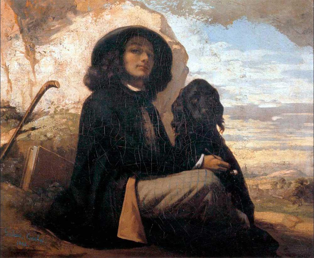 Gustave Courbet Kendi Portresi ve Siyah Köpek