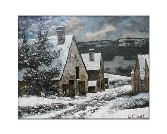 Gustave Courbet Kışta Köy Çıkışı
