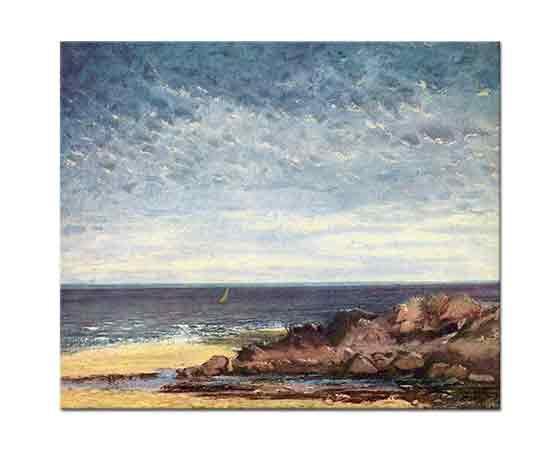 Gustave Courbet Normandiya Sahili Manzarası