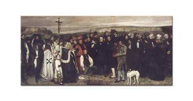 Gustave Courbet Ornan'da Cenaze