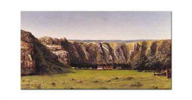 Gustave Courbet Ornan'da Flagey Yakınlarında