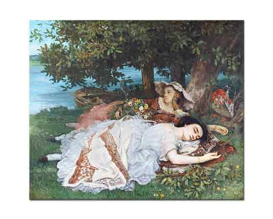 Gustave Courbet Sen Kıyısında Kızlar