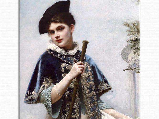 Gustave Jean Jacquet Soylu Hanımın Portresi