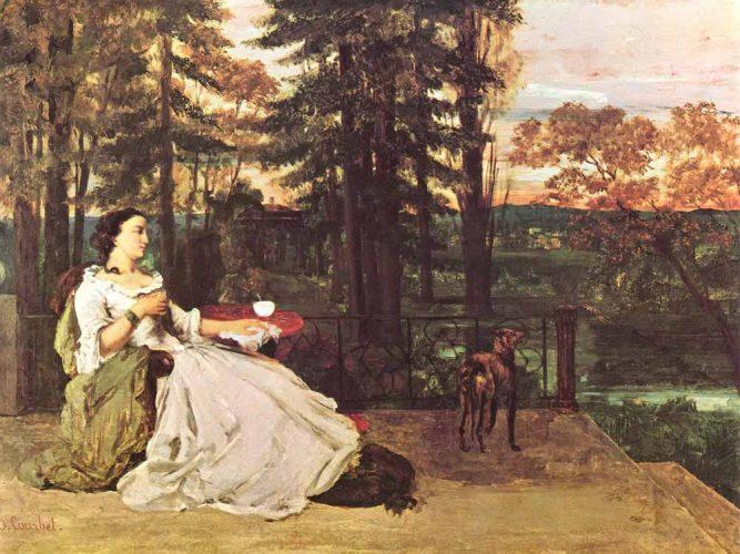 Gustave Courbet Terasta Bayan