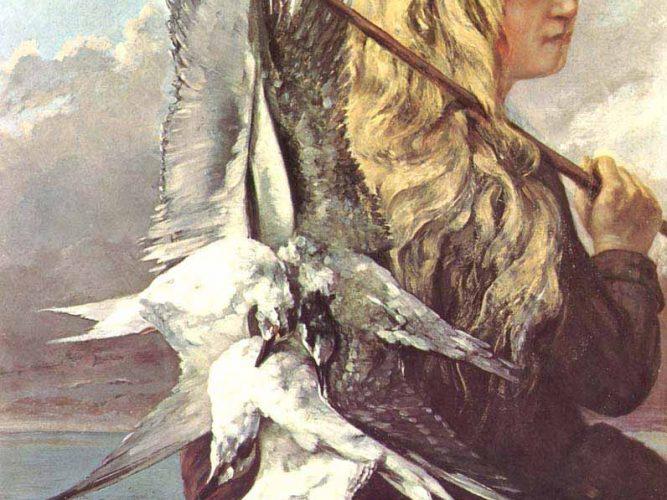 Gustave Courbet Martılarla Kız