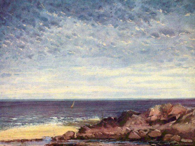 Gustave Courbet Normandiya Sahili