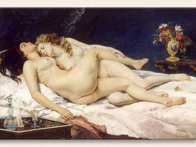 Gustave Courbet Uyuyanlar