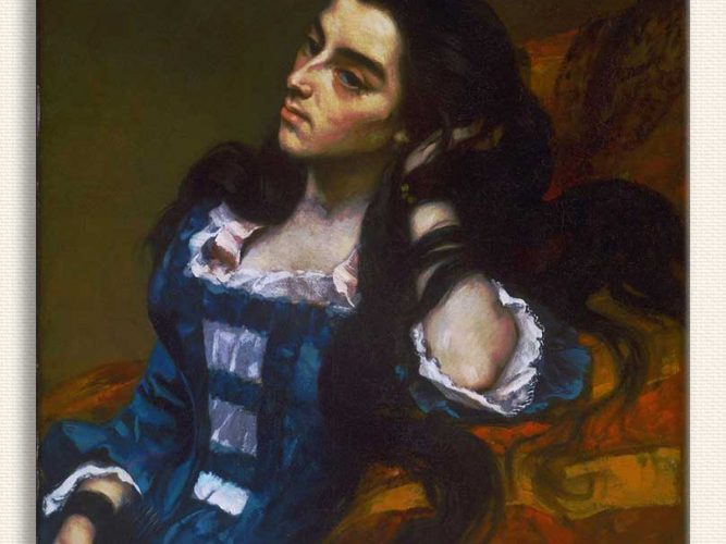 Gustave Courbet Fransız Ispanyol Kadın