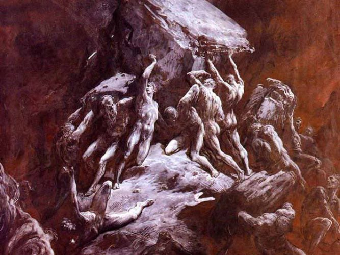 Gustave Dore Titanların Çarpışması
