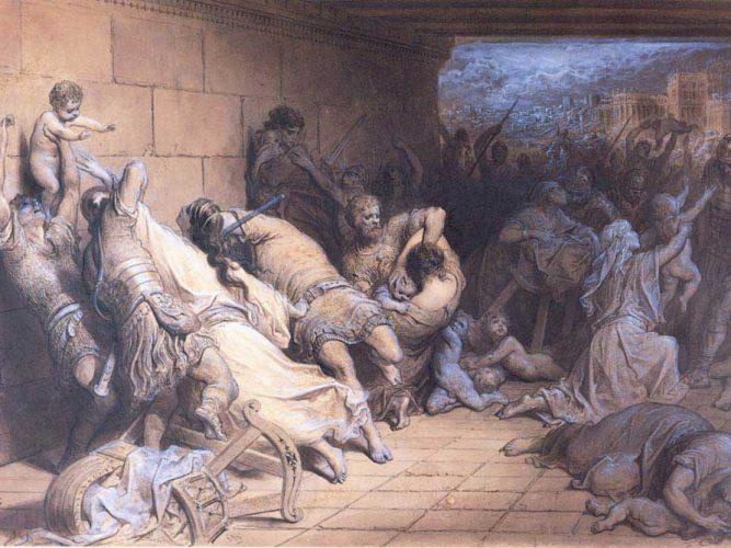Gustave Dore Şehitlikte Kutsal Masumlar