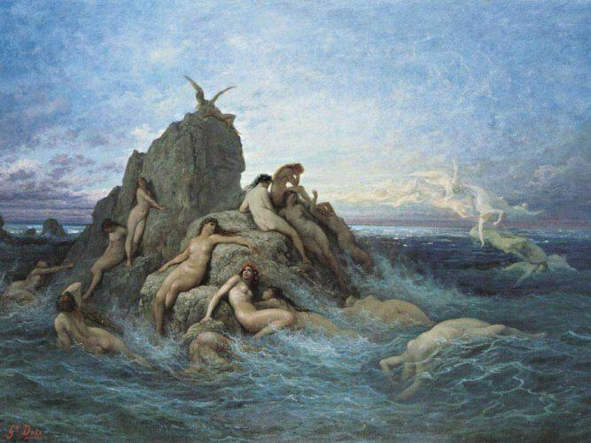 Gustave Dore Su Perileri tablosu