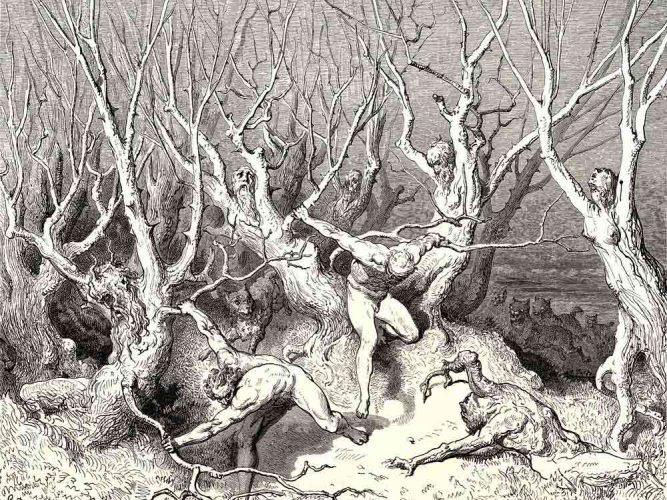 Gustave Dore Cehennem tablosu