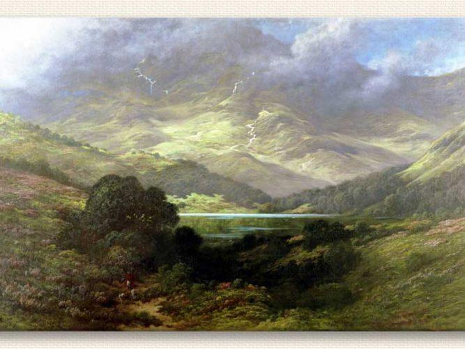 Gustave Dore Iskoç Tepeleri tablosu