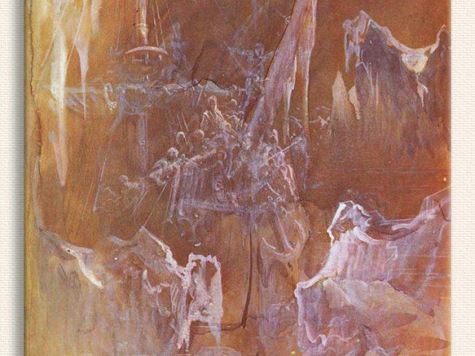 Gustave Dore Buzdağları Arasında Gemi