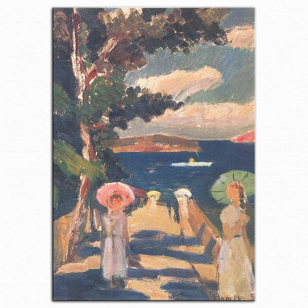 Hamit Görele Ada'da Şemsiyeli Kadınlar