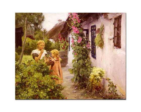 Hans Andersen Brendekilde Köy Evinin Bahçesi