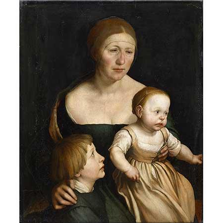 Hans Holbein the Elder Sanatçının Karısı ve Çocukları