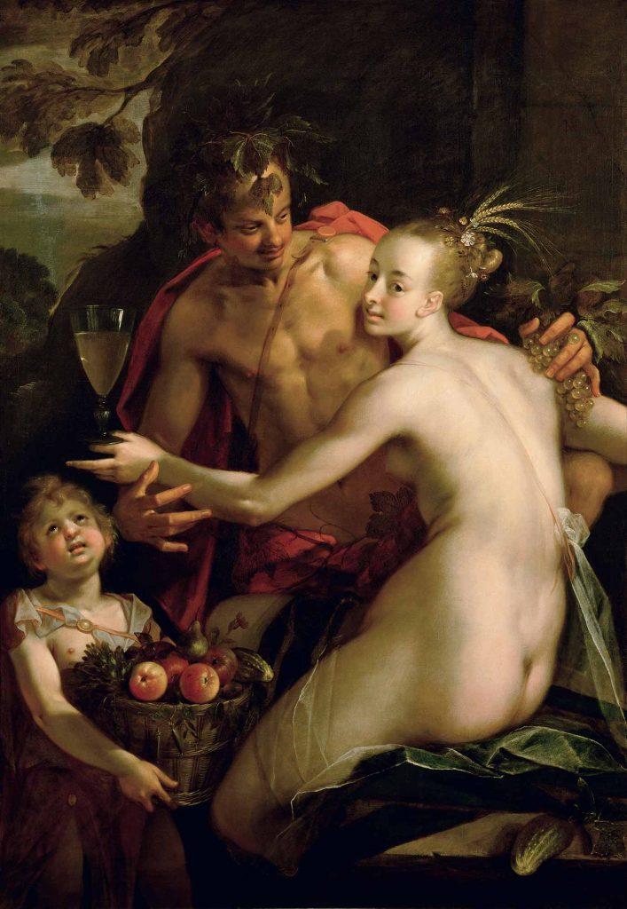 Hans von Aachen Bacchus Ceres Cupid