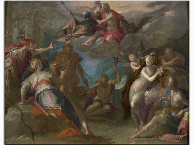 Hans von Aachen Tanrıların şaşkınlığı