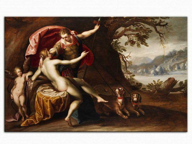 Hans von Aachen Venüs ve Adonis Av Köpekleriyle