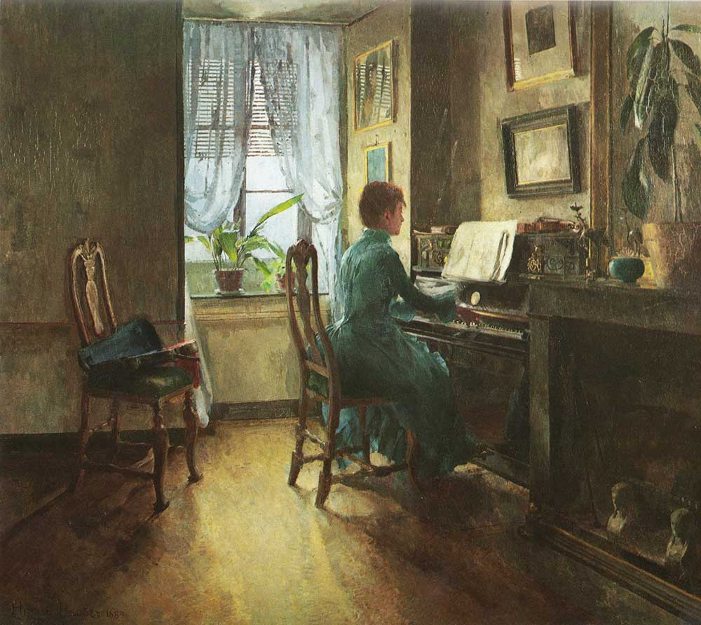 Harriet Backer Evimde
