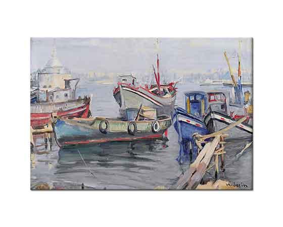 Hasan Vecih Bereketoğlu Haliç'te Tekneler