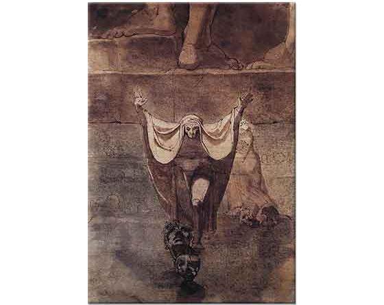 Heinrich Füssli Dante ve Virgil Kositos'un Sonu