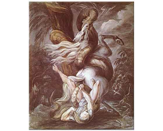 Heinrich Füssli Yılanın Saldırısına Uğrayan Atlı