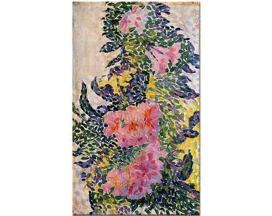 Henri Edmond Cross Çiçekler ve Vazo