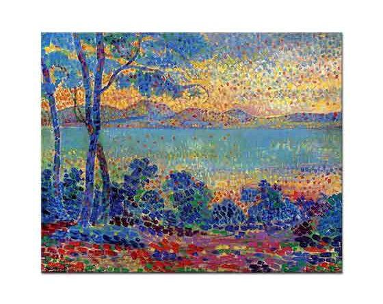 Henri Edmond Cross Deniz Manzarası ve Ağaç