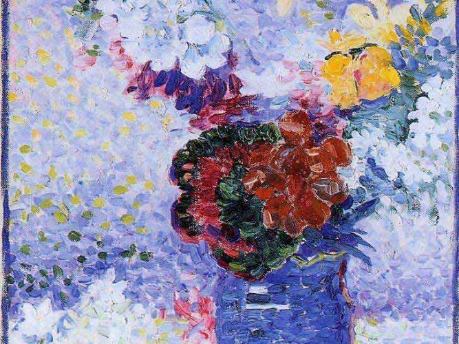 Henri Edmond Cross Vazoda Çiçekler