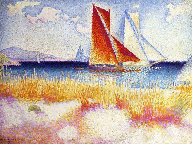 Henri Edmond Cross Yelkenli ve Sahil