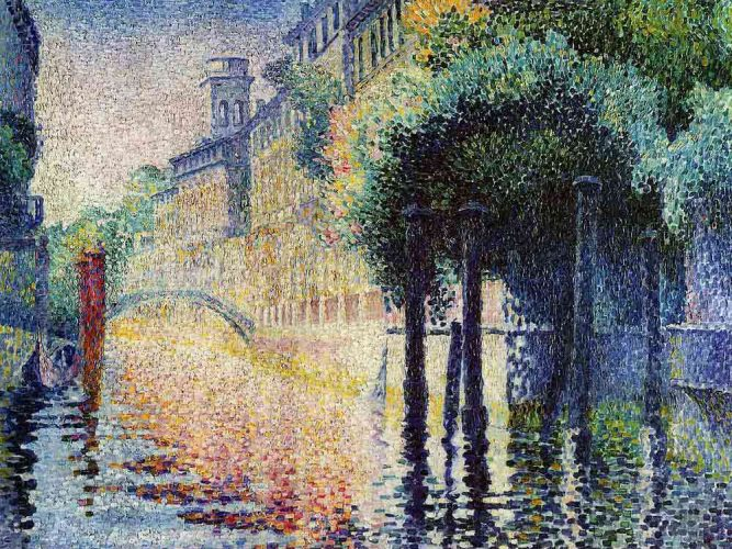 Henri Edmond Cross Rio San Trovaso Venedik