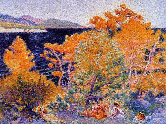 Henri Edmond Cross Su Kıyısında Öğle Uykusu