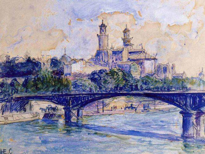 Henri Edmond Cross Trocadero'dan Sen Nehri