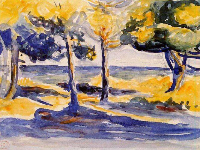 Henri Edmond Cross Deniz Kenarında Ağaçlar