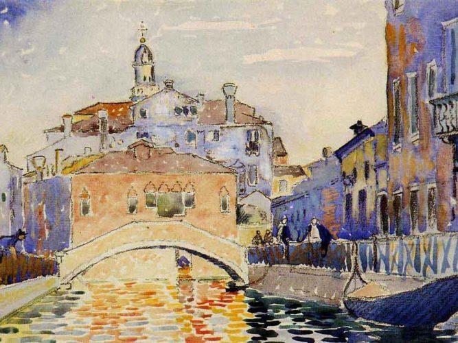 Henri Edmond Cross Venedik Kanalından Görünüm