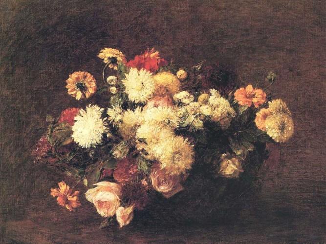 Henri Fantin Latour çiçek buketi