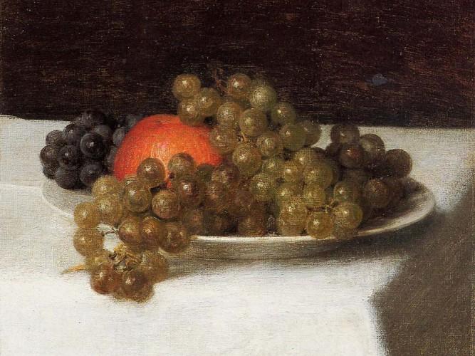 Henri Fantin Latour elma ve üzümler