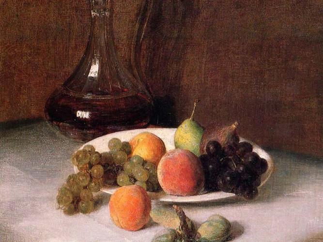 Henri Fantin Latour Meyveler ve Sürahi