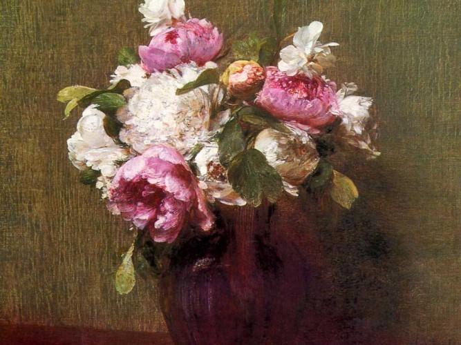 Henri Fantin Latour şakayıklar ve güller