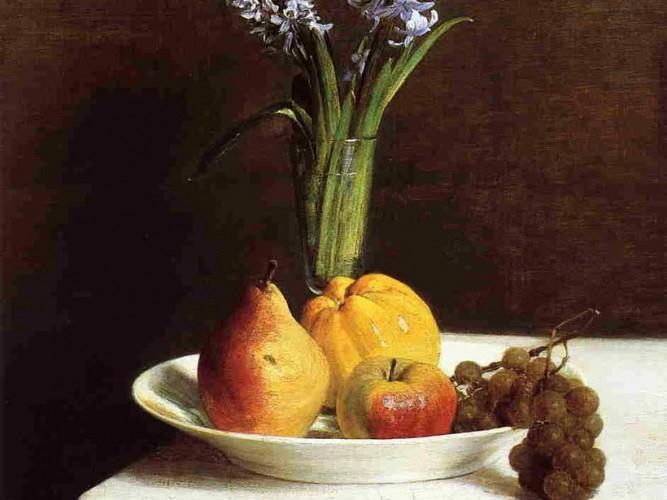 Henri Fantin Latour Sümbül ve Meyve